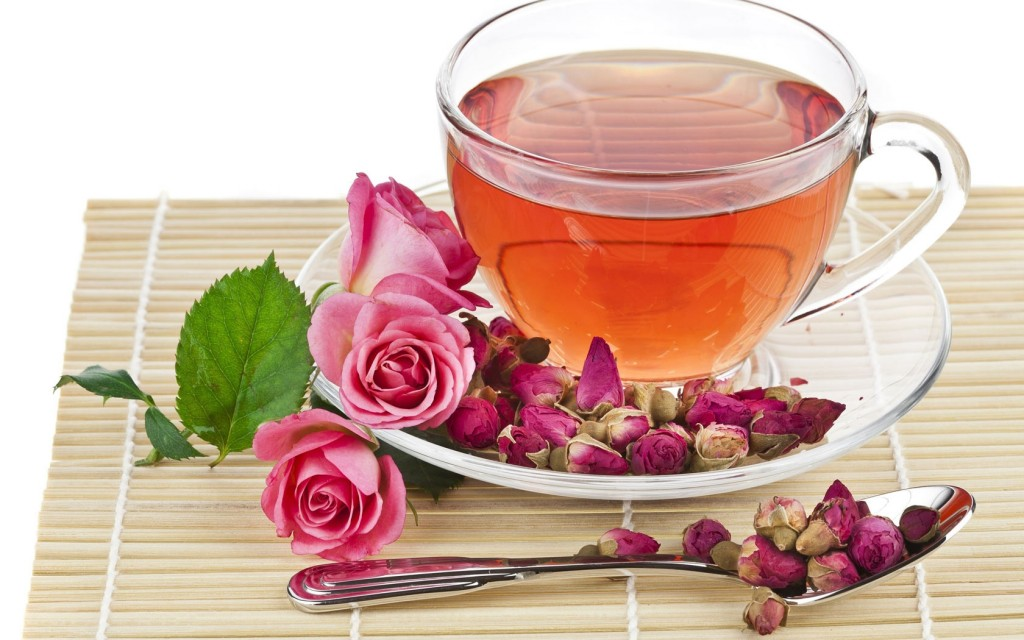 chá de rosa