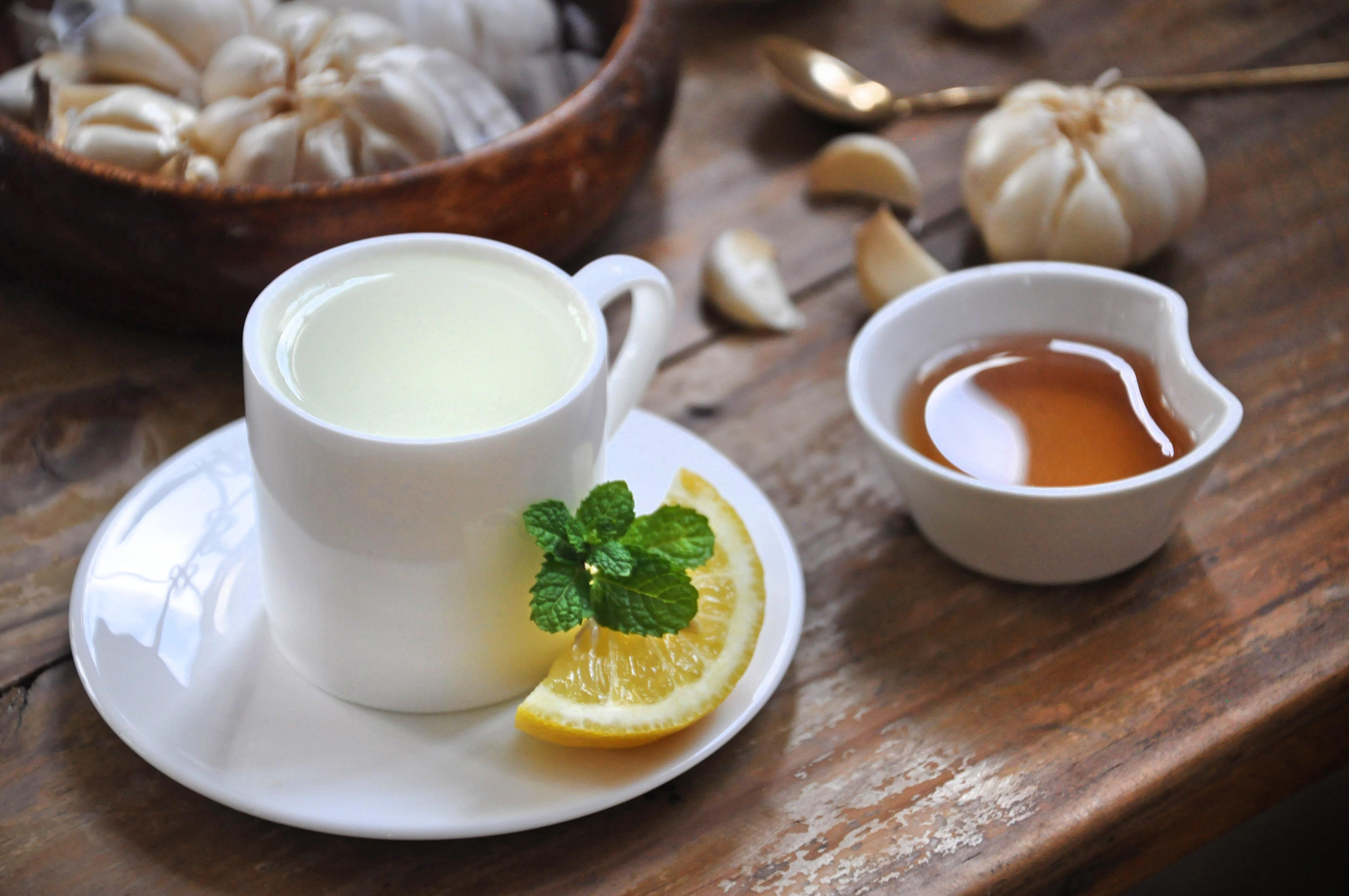chá de casca de alho