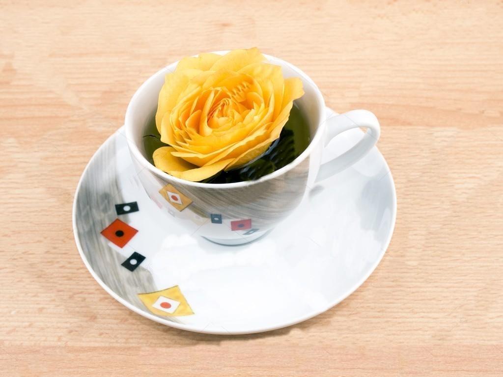 benefícios do cha de rosa amarela
