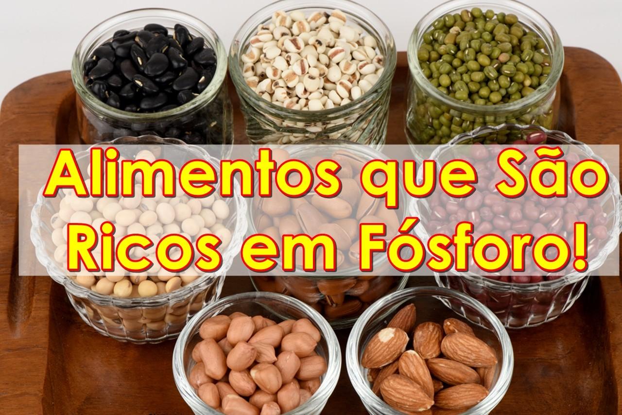 Os 12 Alimentos que São Ricos em Fósforo